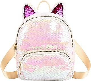 Women Backpacks Girls Bling School Bag Outdoor Sequins Shoulder Backpacks,onesize10,White-1