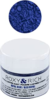 Edible Hybrid Luster Dust, Royal Blue, 2.5 Grams by Roxy & Rich