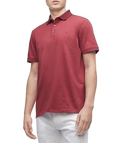 Calvin Klein Short Sleeve Liquid Touch Polo Shirt (Rosewood Combo) Men