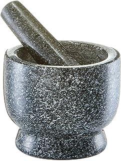 Zeller 24500 - Juego de mortero y pilón, ø12 cm, altura 10 cm, color granito antracita