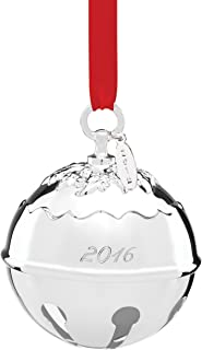 Reed & Barton 2016 Holly Bell Ornament