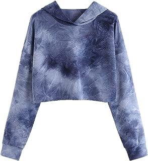 Women's Letter Print Long Sleeve Crop Top Sweatshirt Hoodies