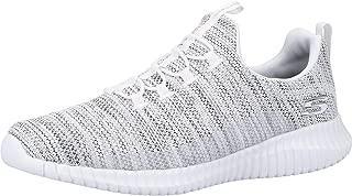 Skechers Elite Flex Westerfield Mens Gray Textile Slip On Sneakers Shoes 9.5