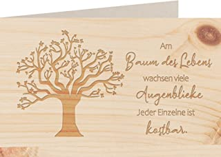 myZirbe Träkort – livets träd – 100 % handgjorda i Österrike – vykort, presentkort, gratulationskort, folkkort, inbjudnin...