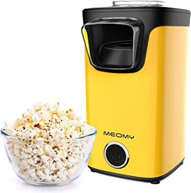 MEOMY Hot Air Popcorn Maker, 1100W Electric Popcorn Machine with Measuring Cups, 98% Poping Rate, BPA-Free, 2 Minutes Fast Po