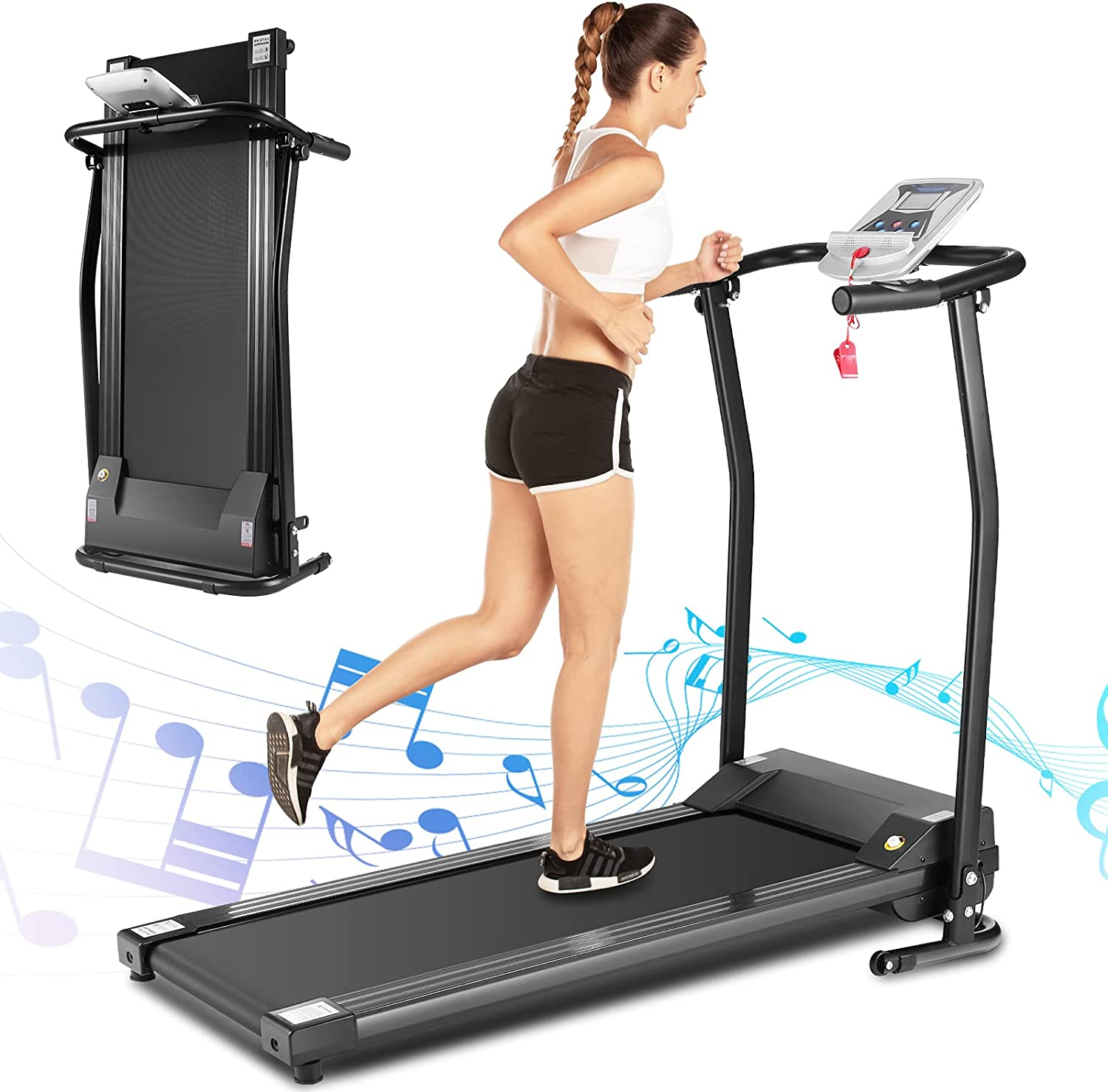 FUNMILY Folding Electric Treadmill Gifts Spaces Ultra-Quiet for Outstanding Small
