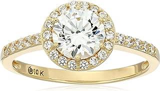 cubic zirconia 10k gold rings