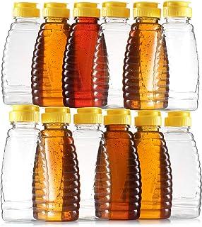 Empty Plastic Honey Bottles – Clear Plastic Honey Jars - PET Food Grade Plastic Honey Container Refill – Squeeze Honey Bot...