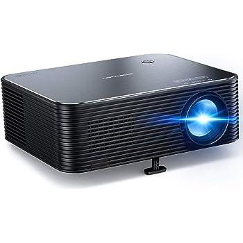 """Proiettore, APEMAN Full HD Native 1080P, supporto 4K, schermo video LCD da 300 """", correzione trapezoidale elettronica remota, compatibile con HDMI / USB / telefono / PC / PS4 per home cinema"""