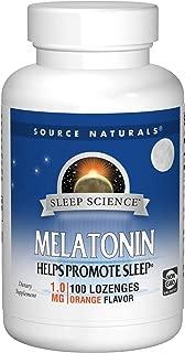 Source Naturals Sleep Science Melatonin 1mg Orange Flavor - 100 Lozenges (Pack of 2)