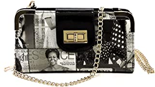 Glossy magazine cover collage crossbody bag purses clutches and wallets Michelle Obama bags