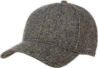 Made in Germany Newsboy de Lana con Visera Forro oto/ño//Invierno Stetson Gorra Hatteras Virgin Wool Check II Hombre