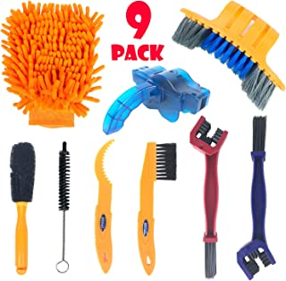 Bike Cleaning Tools Set (9 Pack), Bicycle Clean Brush Kit...