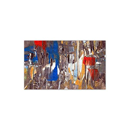 999Store Unframed Large Printed Landscape Abstract Mixed Colours Canvas Painting( 152X91Cms)