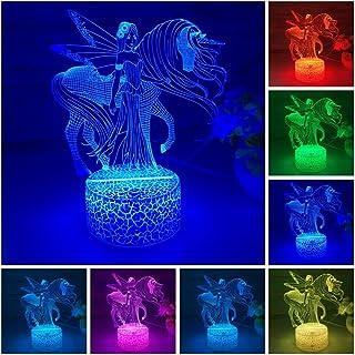 HU XUE GUANG Unicorn Night Light Personalised Unicorn Gift Night Light for Baby Girls Kids Children Bedroom Nursery Decor ...