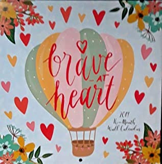Brave at Heart 2019 Wall Calendar 16 Month New Sealed 11