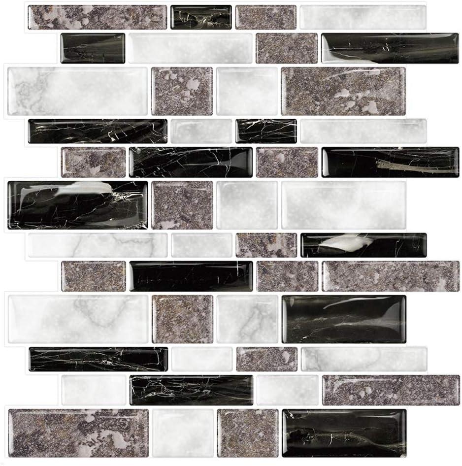 STICKGOO 10-Sheet half Marble Look Peel trust Stick and Kitchen Backsplash