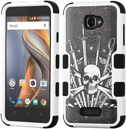 Asmyna teléfono Celular Funda para Coolpad Catalyst–Espada & cráneo/Negro