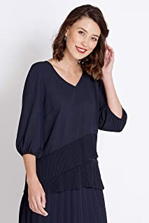 Rockmans Table Eight 3/4 Sleeve Crossover Blouse - Womens