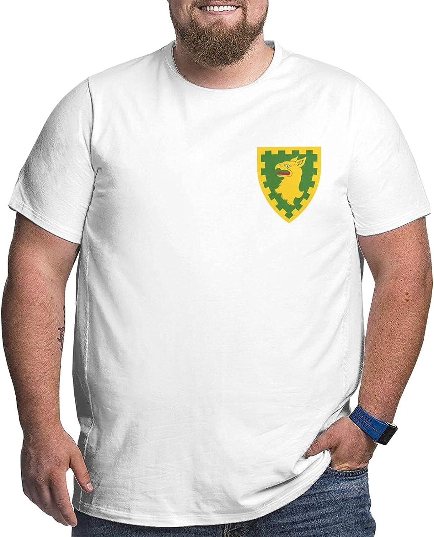 U.S. Army 15th Military Police Brigade Veteran Mans Simple Big Size Summer Outdoor Short Sleeve Round Collar Tshirt
