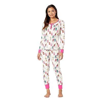 BedHead Pajamas Long Sleeve Henley Pajama Set (Celebration) Women