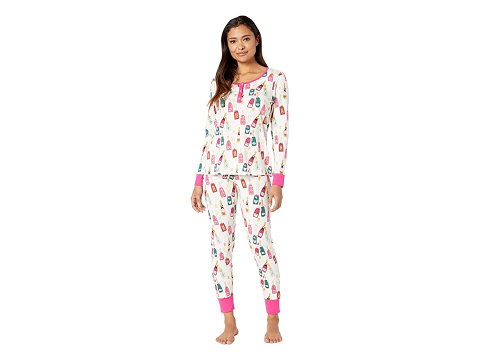 BedHead Long Sleeve Henley Pajama Set (Celebration) Women