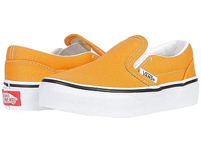 Vans Kids Classic Slip-On (Little Kid) (Golden Nugget/True White) Kids Shoes