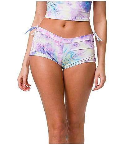 Onzie Side String Shorts (Neon Tie-Dye) Women