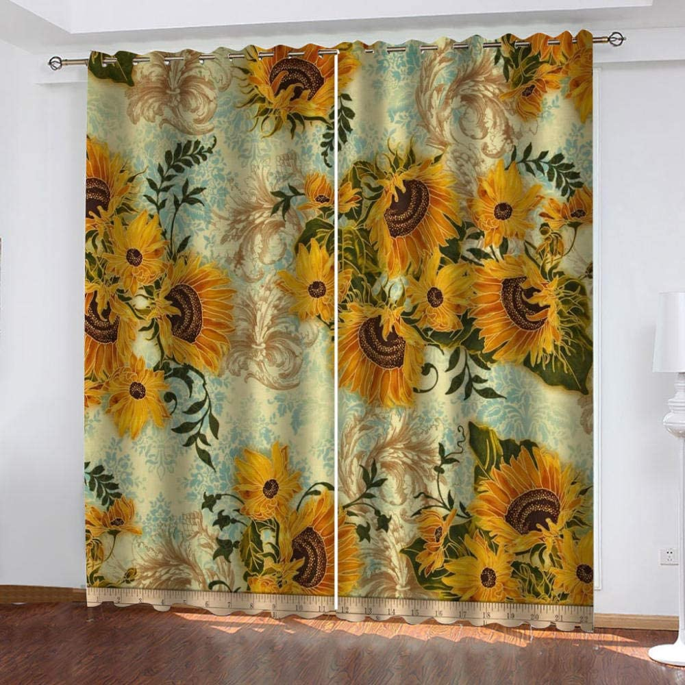 WUBMQ Blackout Same day shipping Curtains for Bedroom Room free Soft Therm Super Living