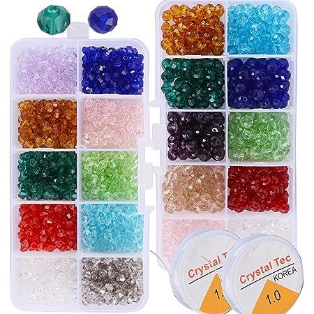 per la creazione di gioielli fai da te 1500 perline colorate in acrilico da 6 mm bracciali regali fatti a mano Firtink collane