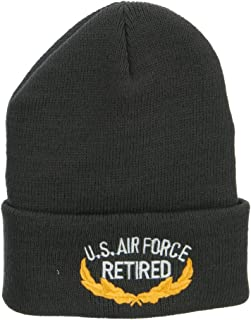 e4Hats.com US Air Force Retired Emblem Embroidered Long Beanie