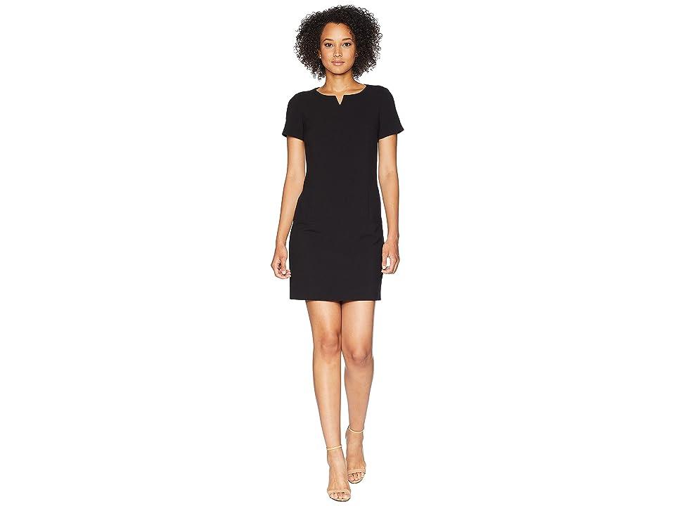 Tahari by ASL Short Sleeve Sheath Dress (Black) Women