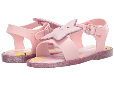 Mini Melissa Mar Sandal Sweet Dreams BB (Toddler/Little Kid) (Pink Glitter) Girl