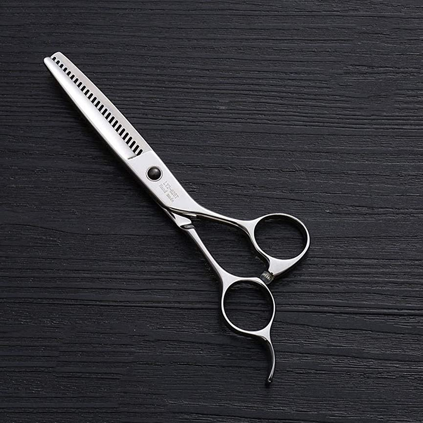 熱帯の消化器頼む440Cステンレス鋼ハイエンドヘアカットツール、25歯T型6インチ美容院プロフェッショナル理髪はさみ モデリングツール (色 : Silver)