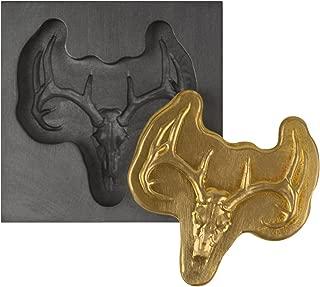 Small - Deer Skull 3D Graphite Ingot Mold for Precious Metal Casting Gold Silver Copper Melting