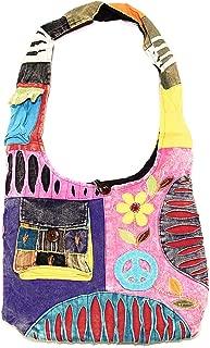 Bohemian Hippie Crossbody Shoulder Bag Sling Cotton Handmade Variety Patterns