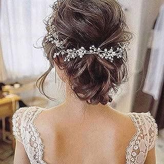 Artio Bride Wedding Hair Vine Accessory Beaded Hair Piece Bridal Headpiece for Bride HV-580
