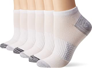 Hanes Women's Lightweight Breathable No Show Socks 6 Pair Pack