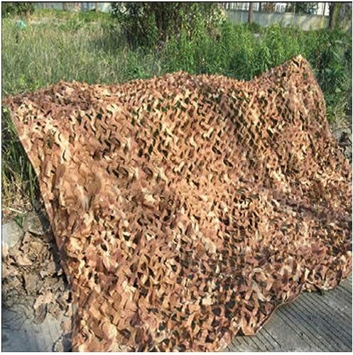 Filet de camouflage parasol multi-usage Couverture de voiture de décoration de chambre à coucher en tissu de camouflage net en mode désert avec housse de voiture de taille variable en option (taille