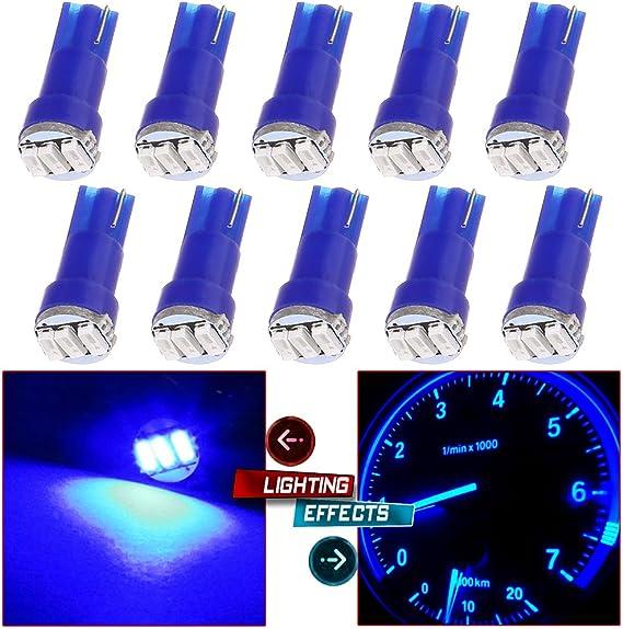 Jtech 10x T5 5050 SMD LED Blue Instrument Panel Dash Light Bulb 74 17 18 37 70 2721
