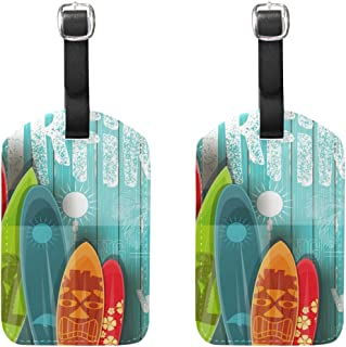 surfboard luggage tag