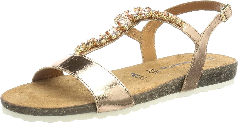 Tamaris Women's Flip Flop Sandal, Metallic Rose, 8