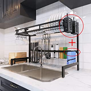 dish rack over double sink