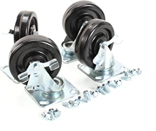 Four 6 Inch Casters Kit With Lock