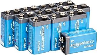 AmazonBasics 9 Volt Lithium Batteries - Pack of 12
