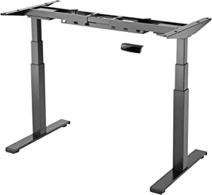 StandXT Elektrisch Höhenverstellbarer Schreibtisch D03-V23D Memory-Steuerung, Kollisionsschutz & Stabilität | Schwarz