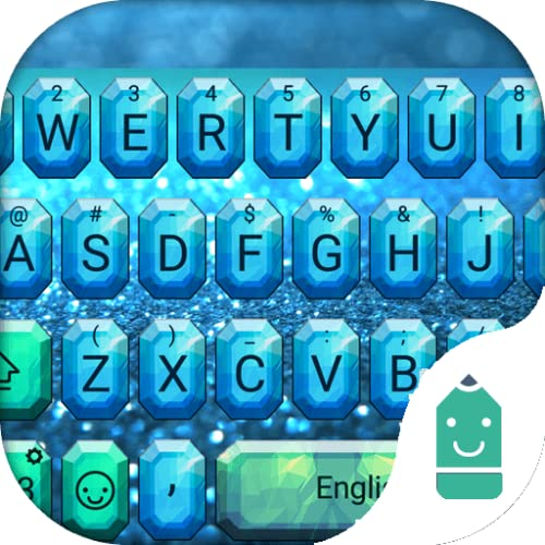 Blue Diamond Theme&Emoji Keyboard