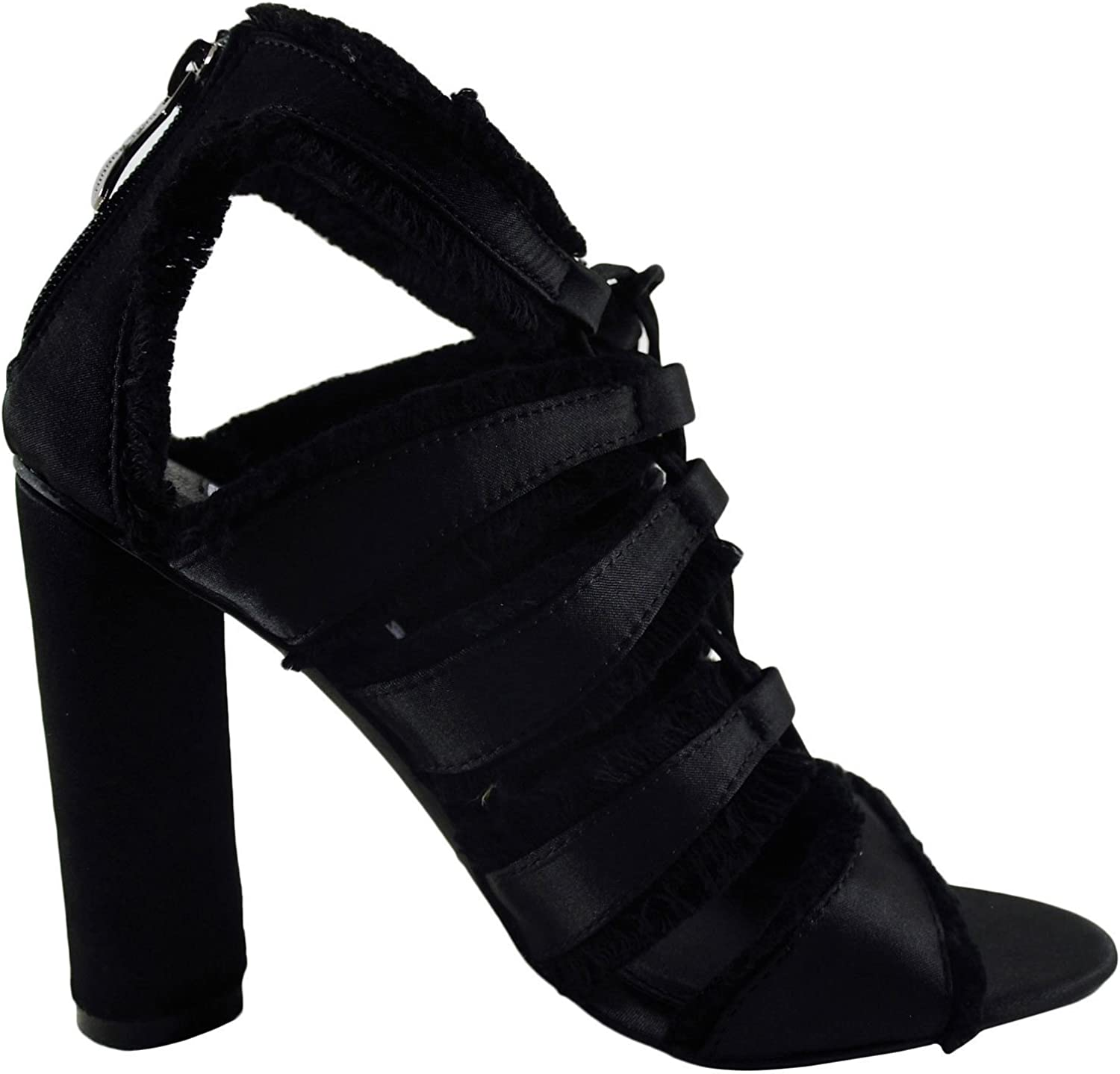 CAPE ROBBIN Maura 5 Women's Fringed Lace Up Caged Heel