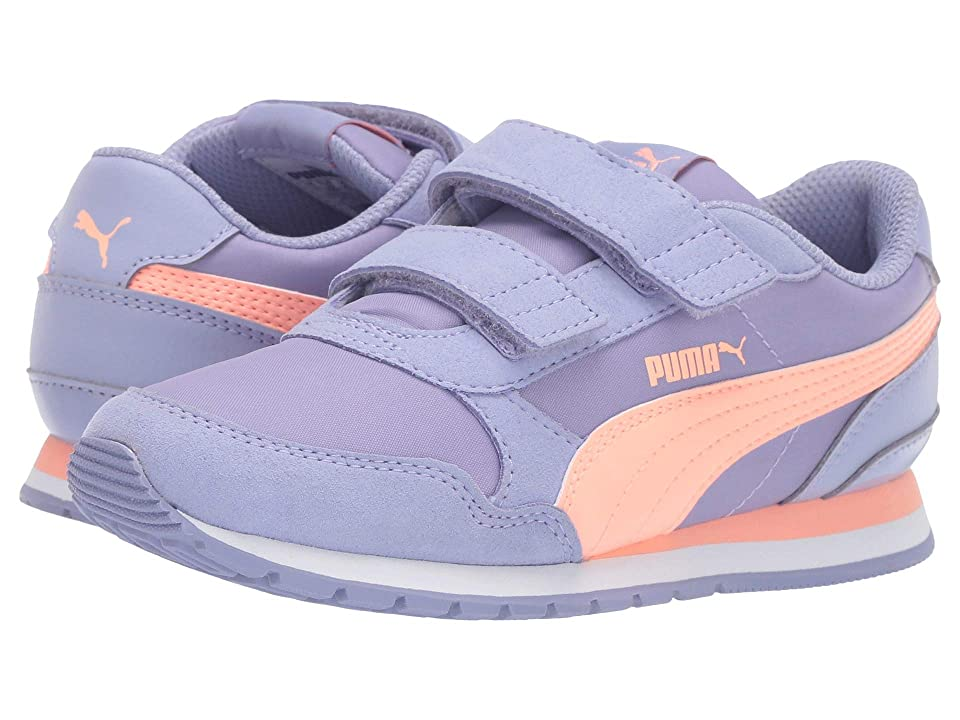 Puma Kids ST Runner Velcro (Little Kid) (Sweet Lavender/Bright Peach/Puma White) Girl