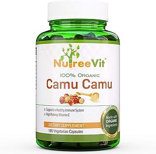 NurteeVit 100% Organic Camu Camu Capsules 500mg - Vitamin C Immune System Support Capsules - Powerful Antioxidant Packed w...